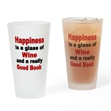 Happiness is a glass of wine and a really good bo