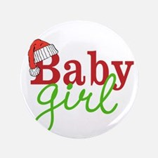 "Christmas Baby Girl 3.5"" Button (100 pack)"