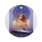 poster-egyptian-big-boat.jpg Ornament (Round)