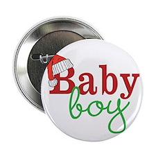 """Christmas Baby Boy 2.25"""" Button"""