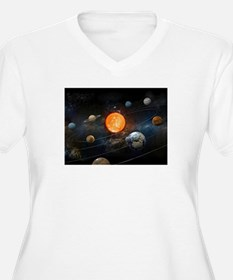 The Solar System Plus Size T-Shirt