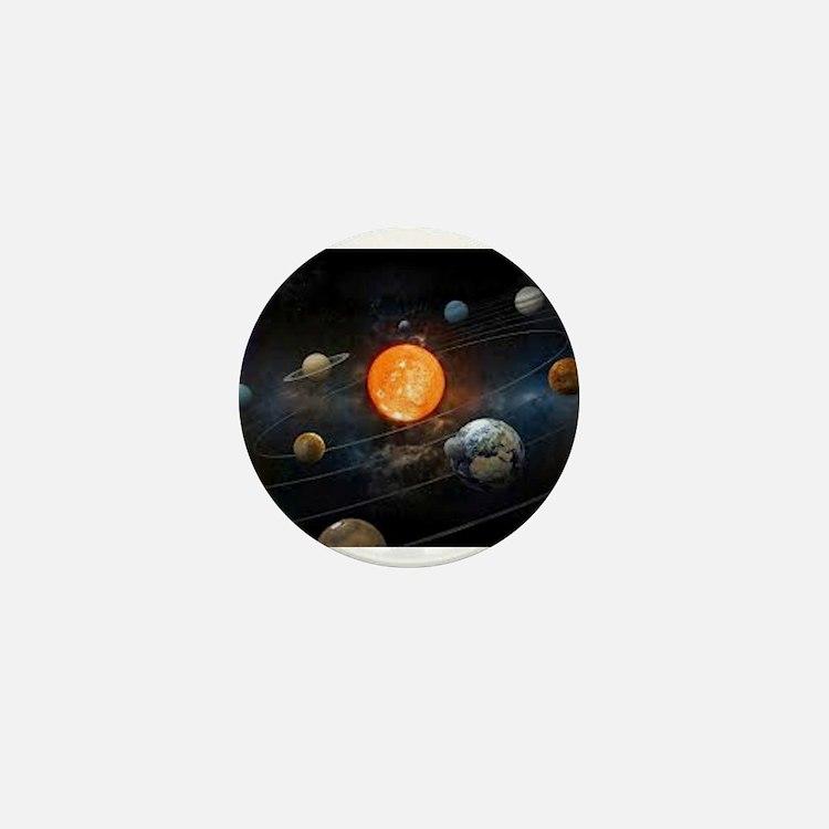 The Solar System Mini Button