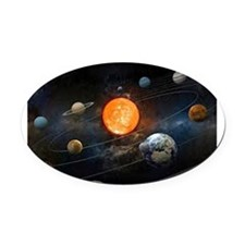 The Solar System Oval Car Magnet