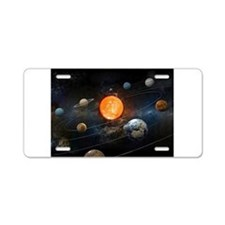 The Solar System Aluminum License Plate