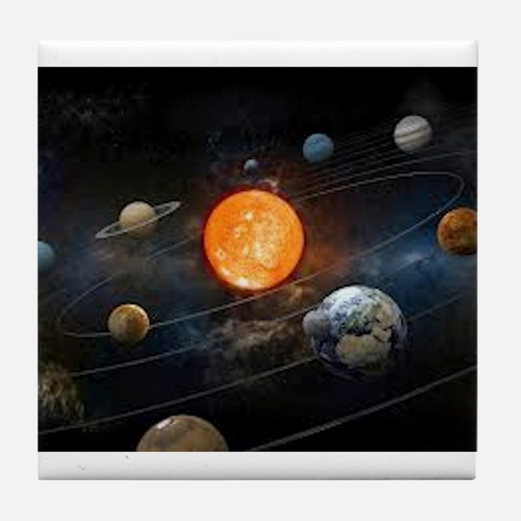 The Solar System Tile Coaster