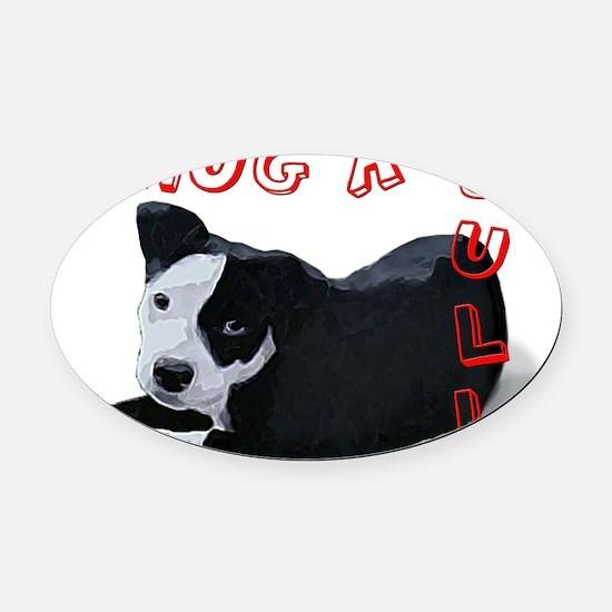 Hug-A-Bull Oval Car Magnet