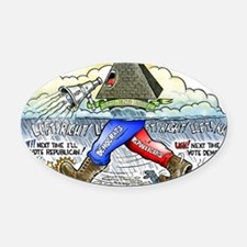 march_of_tyranny Oval Car Magnet