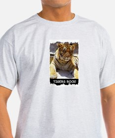TIGERS ROCK! Ash Grey T-Shirt