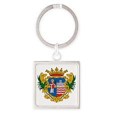 Gyor Hungary Square Keychain