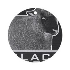 blacksheep Round Ornament