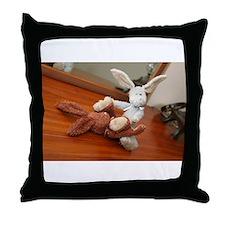 bad bunnies Throw Pillow