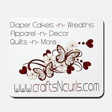Crafts-N-Curls logo Mousepad