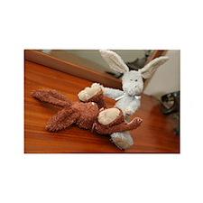 bad bunnies Rectangle Magnet