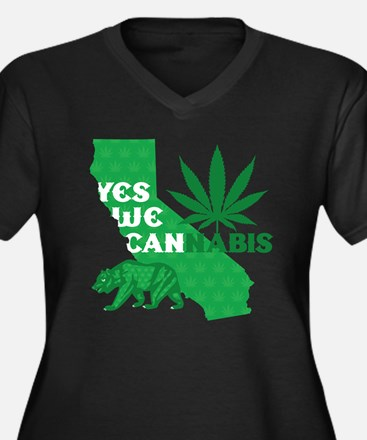 yesweCANnabi Women's Plus Size Dark V-Neck T-Shirt