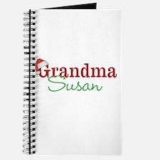 Personal name Christmas Grandma Journal