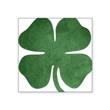 "Shamrock Btn 2 Square Sticker 3"" x 3"""