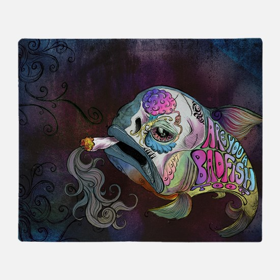 badfish Throw Blanket