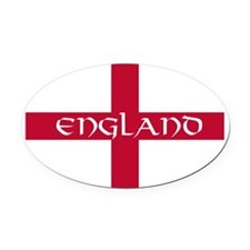 NC English Flag - England V Oval Car Magnet