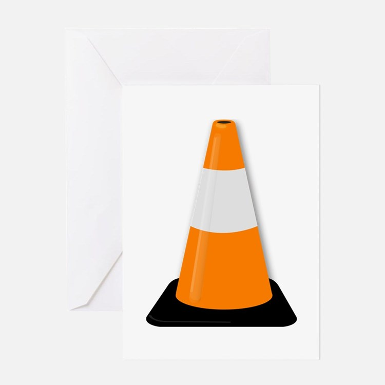 Traffic Cone Greeting Cards