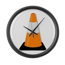 Traffic Cone Large Wall Clock