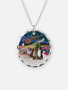 Xmas Magic - Aussie Shepherd Necklace