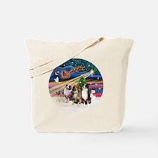 Xmas Magic - Aussie Shepherds (three) Tote Bag