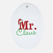 Christmas Mr Personalizable Ornament (Oval)