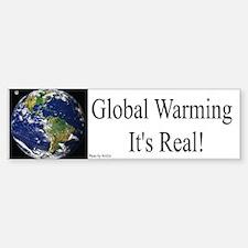 Global Warming Is Real Bumper Bumper Bumper Sticker
