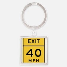 Exit 40 MPH Sign Keychains