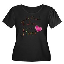 Teachers Women's Plus Size Dark Scoop Neck T-Shirt
