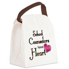 Teachers Have Heart counselors Canvas Lunch Bag