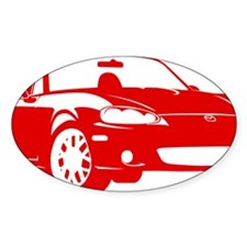 2-NB red Bumper Stickers