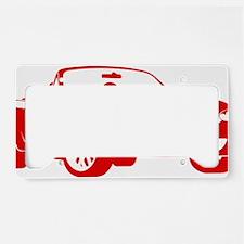 2-NB red License Plate Holder