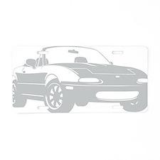 NA silver Aluminum License Plate