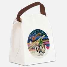 Xmas Magic - Petit Bassets (THREE Canvas Lunch Bag