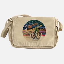 Xmas Magic - Petit Bassets (THREE) Messenger Bag
