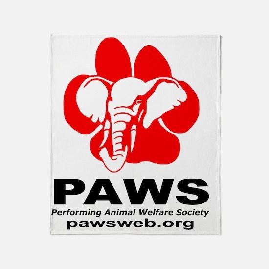 2-PAWSLogo1copy Throw Blanket
