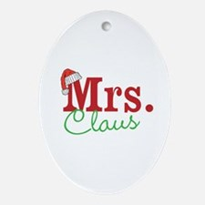 Christmas Mrs personalizable Ornament (Oval)