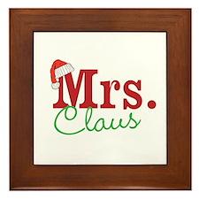 Christmas Mrs personalizable Framed Tile