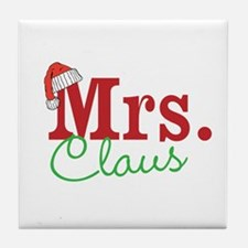 Christmas Mrs personalizable Tile Coaster
