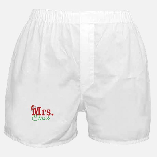 Christmas Mrs personalizable Boxer Shorts