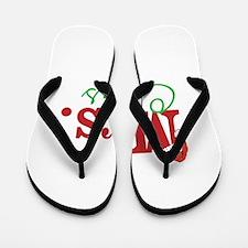 Christmas Mrs personalizable Flip Flops