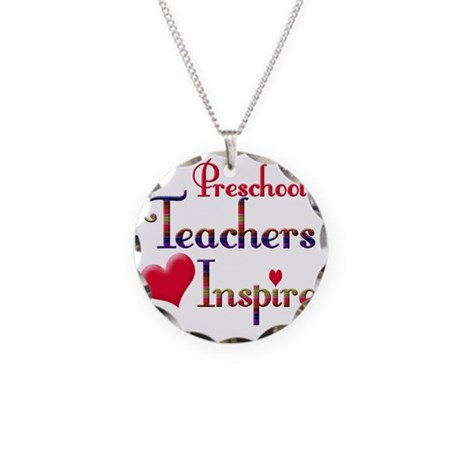 Teachers Inspire Peschool c Necklace Circle Charm