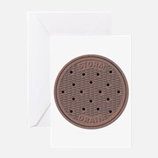 Manhole Cover Greeting Cards