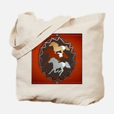 Horse and Shield_pillow Tote Bag