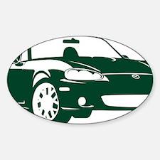 2-NB green Sticker (Oval)