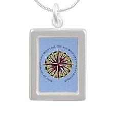 compass-rose3-CRD Silver Portrait Necklace