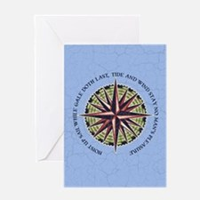 compass-rose3-CRD Greeting Card