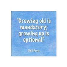 "growing-up-mouse Square Sticker 3"" x 3"""