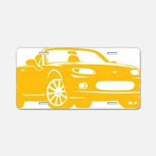 2-NC yellow Aluminum License Plate